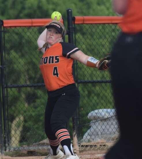 Demons sweep softball doubleheader from Keokuk