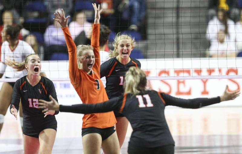 Photos: Cedar Falls vs. West Des Moines Valley, Iowa Class 5A state volleyball championship