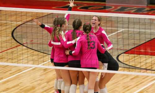 Photos: Iowa City West vs. Iowa City High volleyball