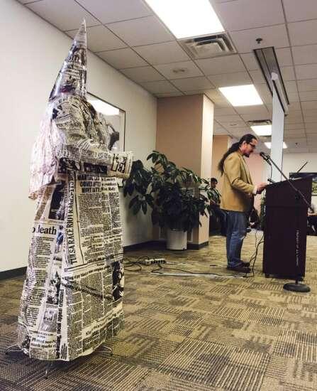 University of Iowa Artist behind KKK statue discusses 'Fear of Art'