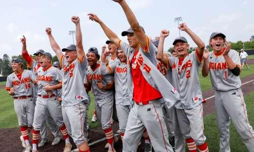 Owen Puk stayed to help Marion win state baseball championship