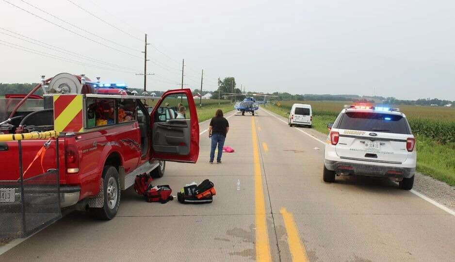 Cedar Rapids cyclist seriously injured when struck by vehicle in Buchanan County