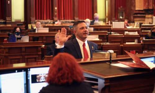 Dickey sworn in to Senate, proposes bills on first responders,…