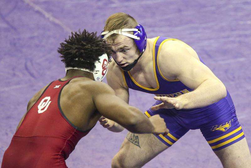 Parker Keckeisen steps into UNI wrestling lineup and hasn't lost this season