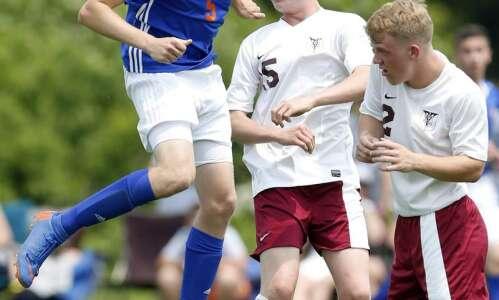 Boys 1A soccer quarterfinals - Iowa Mennonite vs Sioux Center