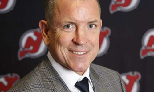NHL General Manager attends RoughRiders tryout camp, as a dad