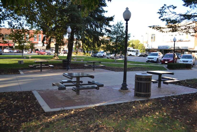 New tables installed in Fairfield Central Park