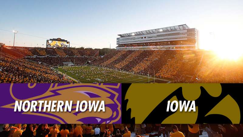 Play Action: Northern Iowa Panthers at Iowa Hawkeyes