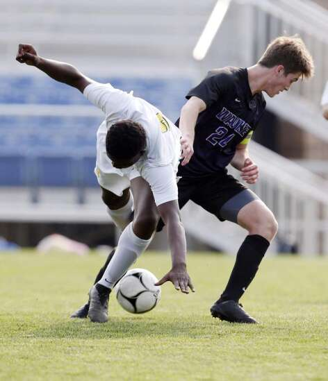 Boys 3A soccer quarterfinal - CR Kennedy vs Waukee