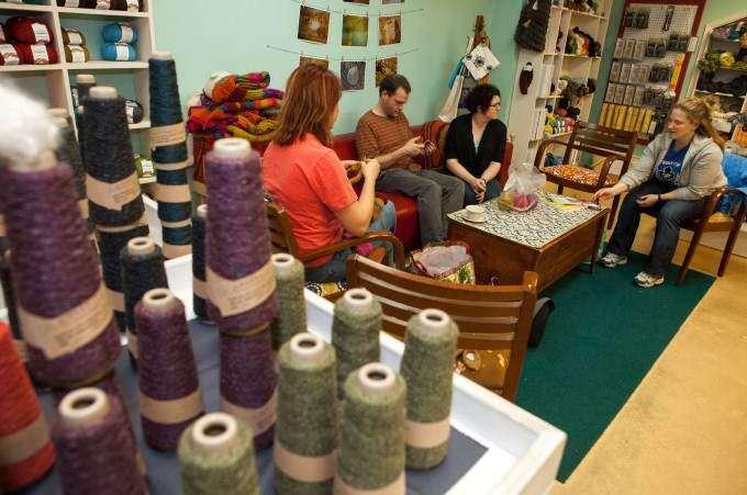 Yarn bombers make art, not war