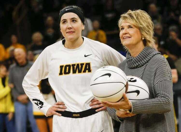 Iowa's Megan Gustafson, Lisa Bluder sweep Naismith women's basketball honors