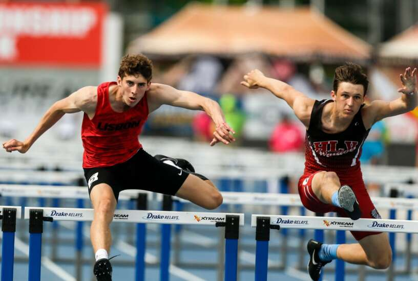 Iowa state track 1A, 2A boys' results: Lisbon's Kole Becker adds more gold to cap memorable meet