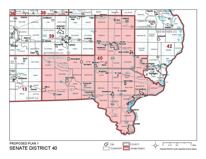 Proposed maps shuffle boundaries of state Senate districts