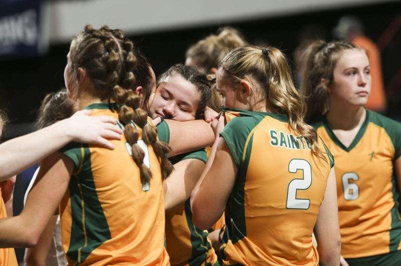 Photos: St. Albert vs. Gladbrook-Reinbeck, Iowa Class 1A state volleyball tournament semifinal