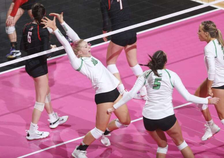 Osage clears state volleyball semifinal hurdle against Davenport Assumption