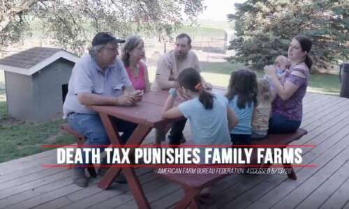Fact Checker: Ad about 'death tax' harming Iowa farms mostly…
