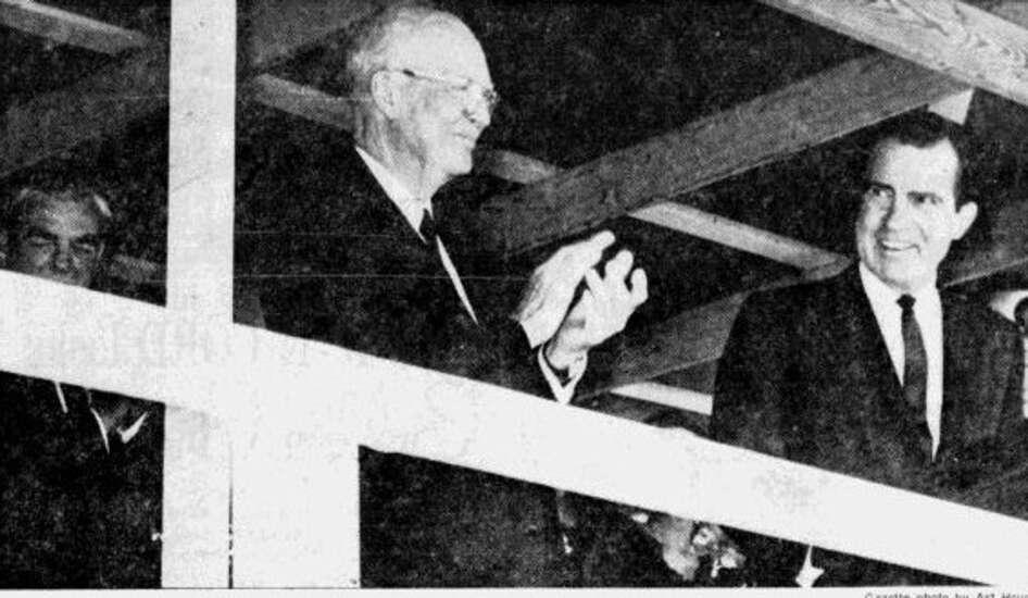 Time Machine: Dwight Eisenhower and Richard Nixon visit West Branch