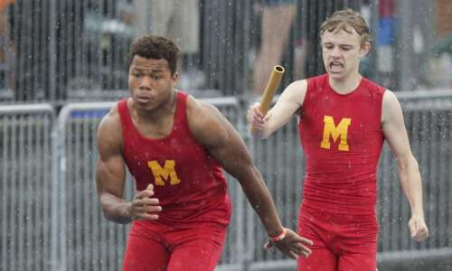 Iowa 3A boys' state track and field: Marion harvests some…