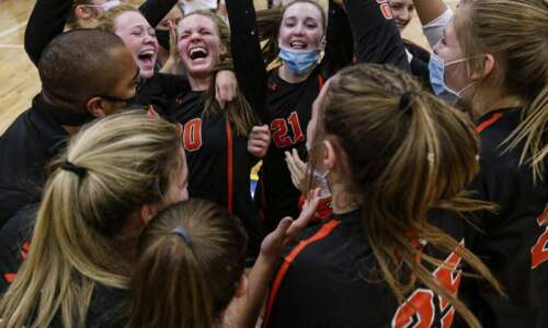 Photos: Springville vs. Belle Plaine, Iowa high school volleyball