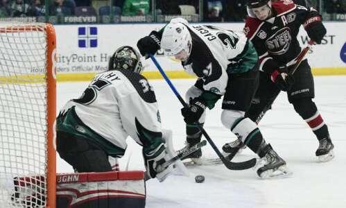 Like many in the USHL, Alex Gagne of Cedar Rapids…