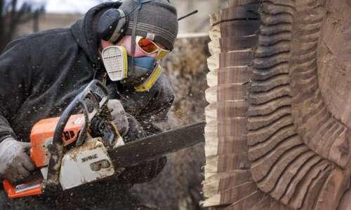 Chain saw artists turn derecho destruction into works of art