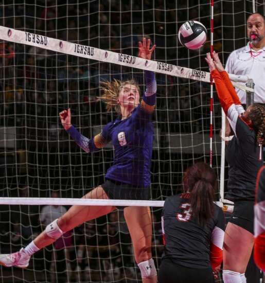 Photos: Red Oak vs. Nevada, Iowa Class 3A state volleyball quarterfinals
