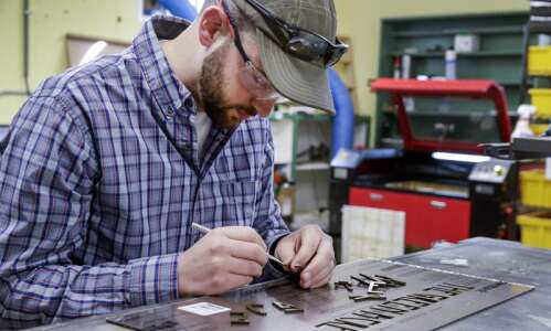 Hiawatha business FiddleSticks creates products with laser