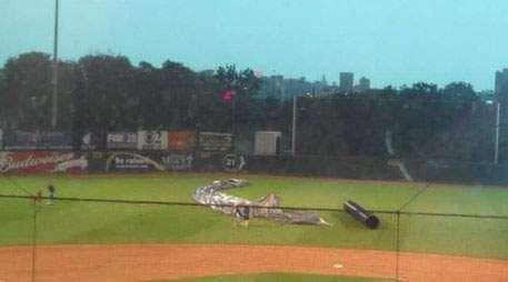 Tarp blown across field injures several Kernels staffers