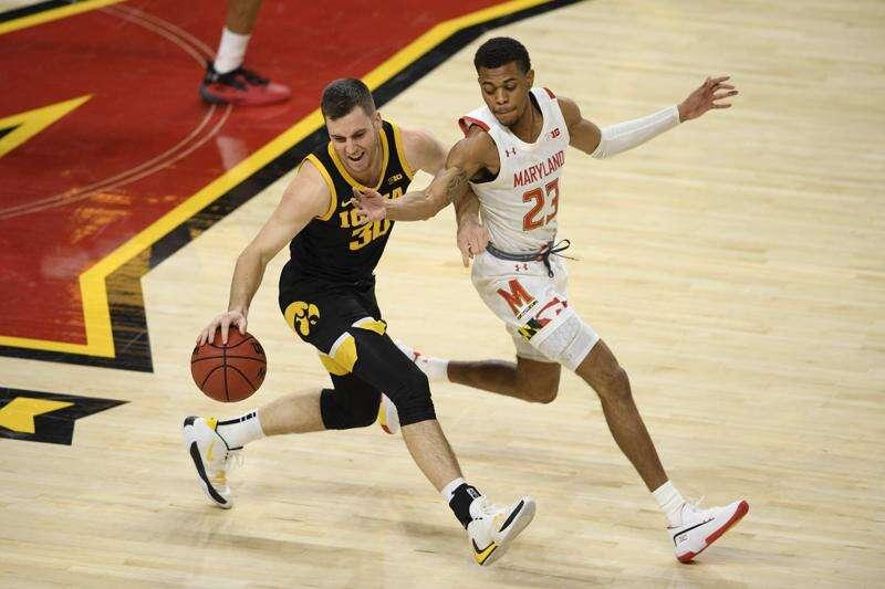 Connor McCaffery assists Iowa Hawkeyes in putting hurt on Maryland