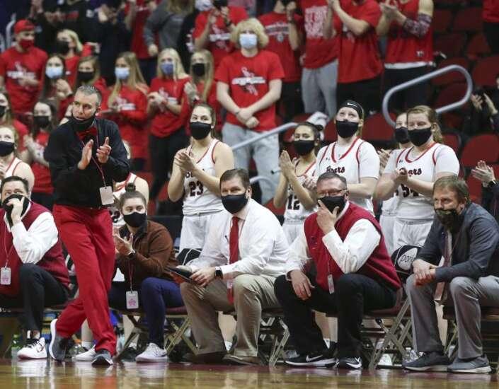 Photos: West Branch vs. Grundy Center, Iowa Class 2A girls' state basketball quarterfinals