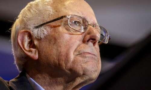 Bernie Sanders in Iowa City today