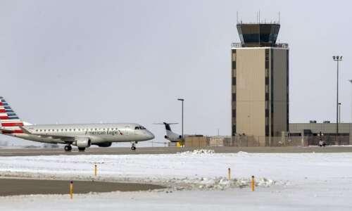 Eastern Iowa Airport's nonstop flight to Phoenix Sky Harbor to…