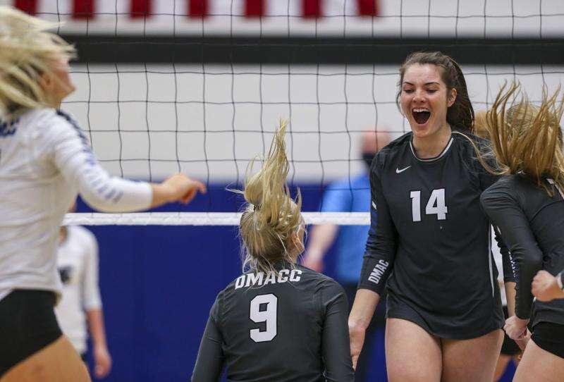 Photos: Kirkwood volleyball vs. DMACC