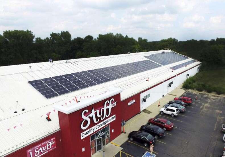 Stuff Etc adds solar power to Iowa stores