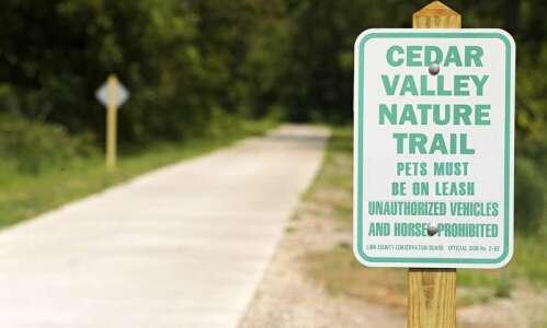 Cedar Valley Nature Trail temporary closure near Center Point, Urbana