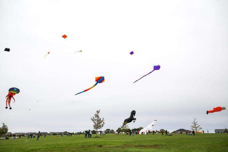 Photos from the 'Take Flight!' kite festival in North Liberty Sunday