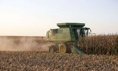 A third of Iowa corn harvested, half of soybeans