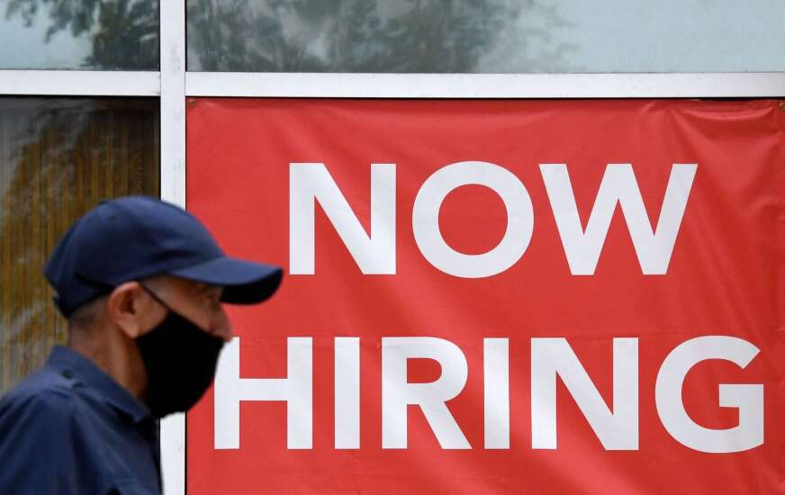 U.S. jobless claims reach a pandemic low