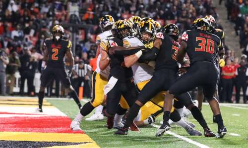 Mullet-bearing Monte Pottebaum finds expanded role as Iowa fullback