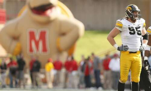Iowa football team to play Maryland on a Friday