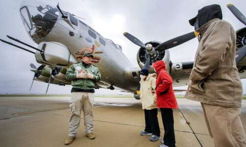 World War II B-17 bomber makes stop in Cedar Rapids…