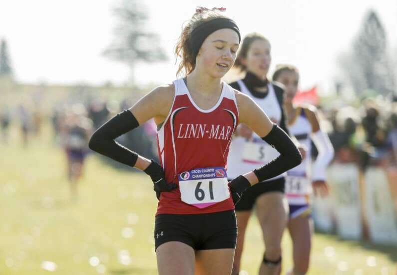 Iowa 4A state cross country: Linn-Mar's Micah Poellet earns third top-5 finish