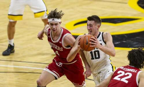 Hey Joe! Wieskamp lights fire under Iowa Hawkeyes in 79-66…