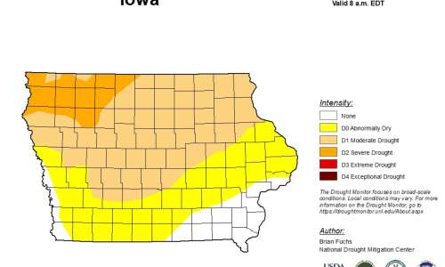 Nearly 90% of Iowa is at or near drought