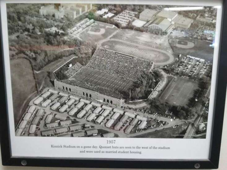 Kinnick Stadium in 1957 -- It was a different time