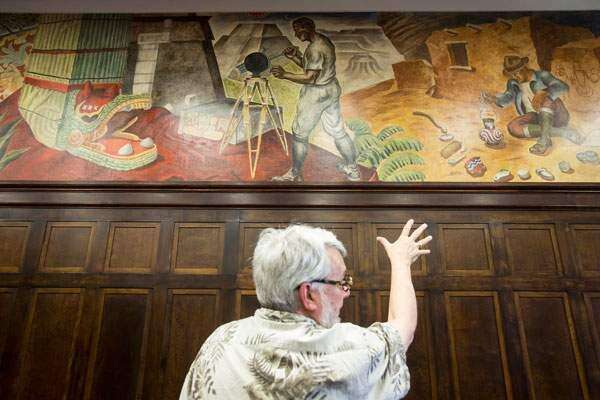 More of restored Depression-era mural is unveiled at Cedar Rapids City Hall
