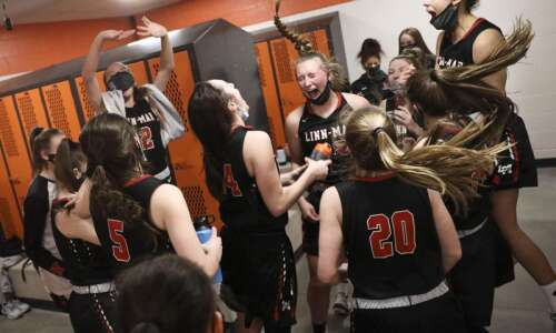 Photos: Linn-Mar vs. C.R. Prairie, Class 5A Iowa high school…
