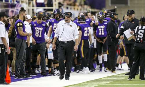 COVID-19 protocols forced UNI to remake offensive line, and the…