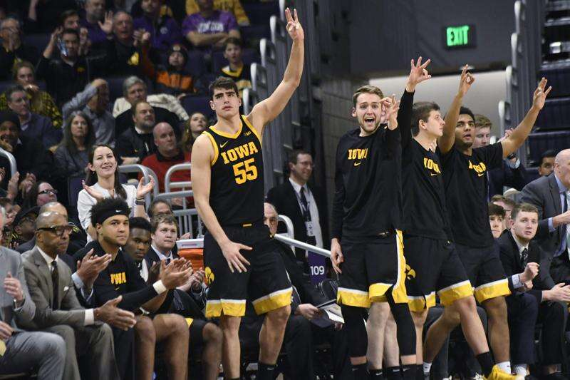 Northwestern Coach Chris Collins on Iowa's Luka Garza: 'He just plays and plays and plays'
