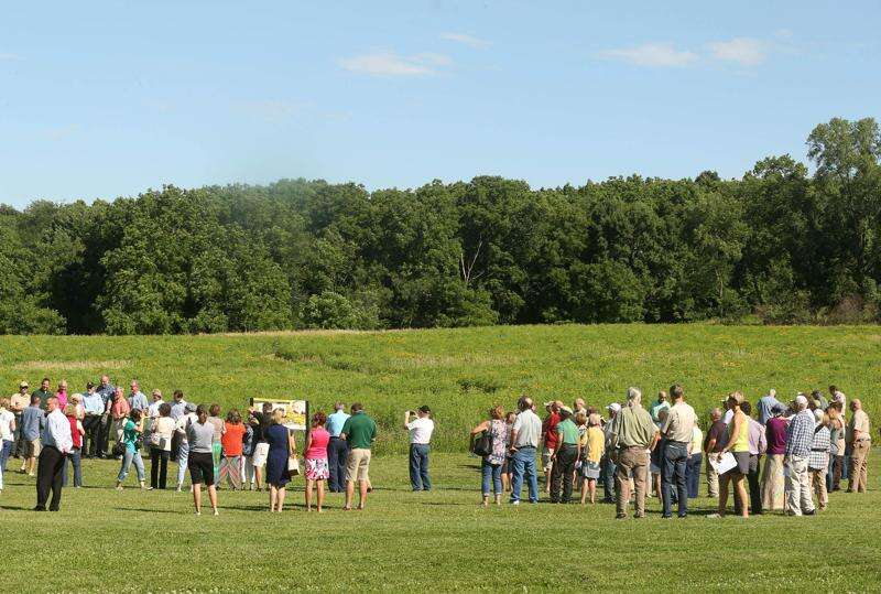 Orlan Love's remarks during monarch prairie dedication at Squaw Creek Park in Marion